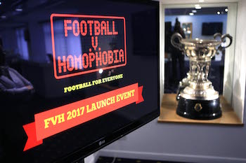 LONDON, ENGLAND - FEBRUARY 01: The launch event for Football v Homophobia at White Hart Lane on February 1, 2017 in London, England. (Photo by Tottenham Hotspur FC/Tottenham Hotspur FC via Getty Images)
